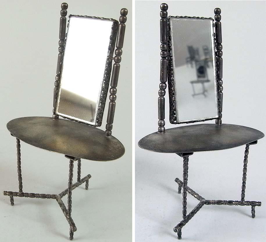 seltener puppenspielzeug spiegeltisch 925 er silber ebay. Black Bedroom Furniture Sets. Home Design Ideas
